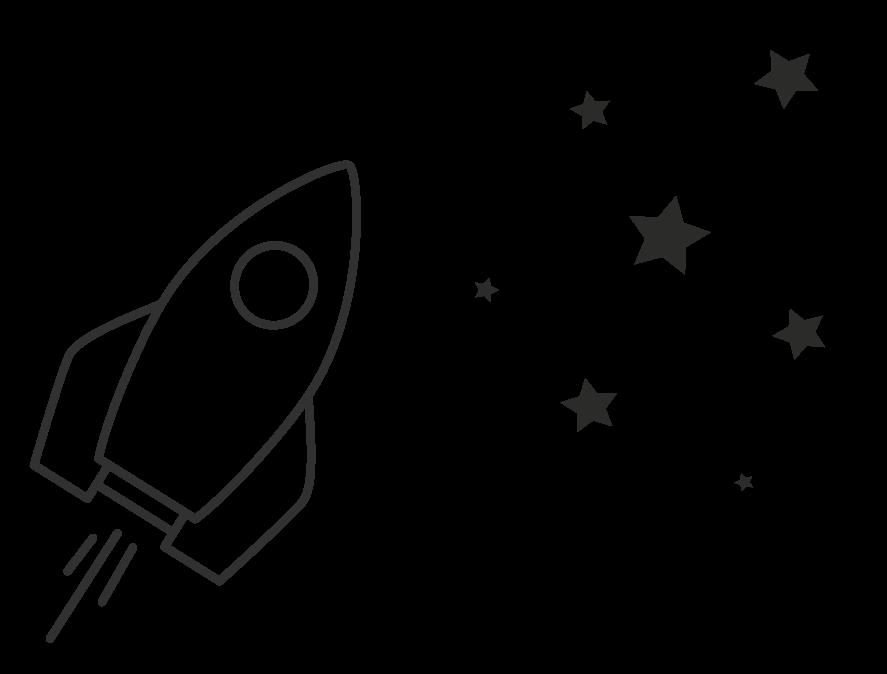 Raket och stjärnor mönster